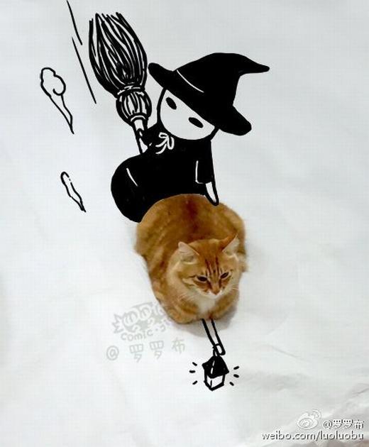 Bộ ảnh siêu cute của chủ nhân dành cho mèo cưng